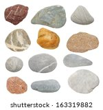 collection rocks isolated on...   Shutterstock . vector #163319882