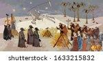 plague epidemic. horseman of... | Shutterstock .eps vector #1633215832