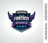 modern fantasy sports logo... | Shutterstock .eps vector #1633260322