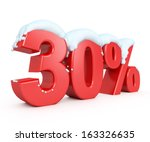 3d red snowy discount... | Shutterstock . vector #163326635