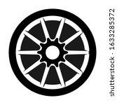 car rim vector isolated on white | Shutterstock .eps vector #1633285372