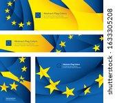 abstract european flag  eu... | Shutterstock .eps vector #1633305208