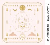 zodiac sign   virgo and its...   Shutterstock .eps vector #1633309942