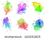 abstract hand drawn watercolor... | Shutterstock . vector #163331825