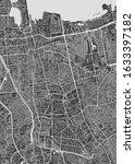 city map jakarta  monochrome... | Shutterstock .eps vector #1633397182