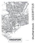 city map singapore  travel... | Shutterstock .eps vector #1633397215