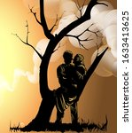 Vector Image Of A Couple In...
