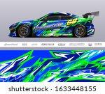 race car livery design vector....   Shutterstock .eps vector #1633448155