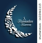 crescent islamic for ramadan... | Shutterstock .eps vector #1633461115