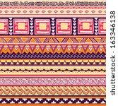 seamless tribal pattern vector... | Shutterstock .eps vector #163346138