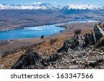 Small photo of Lake Alexandrina and Joseph Ridge from Mt John, Tekapo, South Island, New Zealand
