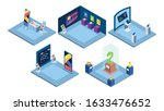 exhibition places interiors...   Shutterstock .eps vector #1633476652