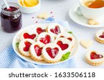 Linzer Cookies With Heart With...