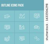 webdesign icon set and drawing...