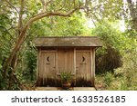Outhouse at an historic house...