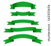 green ribbons flags | Shutterstock . vector #163353656