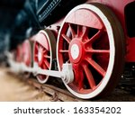 Steam Locomotive Wheels Close Up