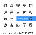 customer support line icons set.... | Shutterstock .eps vector #1633583872