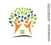 nursing home logo design home...   Shutterstock .eps vector #1633622335