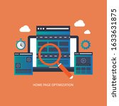 website homepage optimization ... | Shutterstock .eps vector #1633631875
