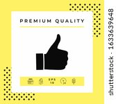 thumb up gesture   icon.... | Shutterstock .eps vector #1633639648