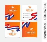 king's day celebrations design... | Shutterstock .eps vector #1633657318