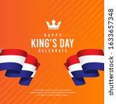king's day celebrations design... | Shutterstock .eps vector #1633657348