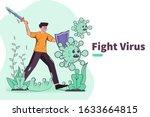 vector illustration fight... | Shutterstock .eps vector #1633664815