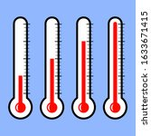 thermometer outdoor...   Shutterstock .eps vector #1633671415