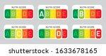 nutriscore stickers set. vector ... | Shutterstock .eps vector #1633678165
