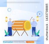 ramadan kareem concept  islamic ...   Shutterstock .eps vector #1633738885