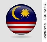 malaysia flag icon circle 3d... | Shutterstock .eps vector #1633756612