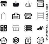 shop vector icon set such as ...