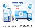 pharmacy supply trendy flat... | Shutterstock .eps vector #1633765012