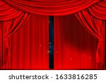 Theatre curtain and lighting on ...