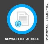 vector newspaper. documents...   Shutterstock .eps vector #1633837462