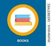 book icon  vector education...   Shutterstock .eps vector #1633837492
