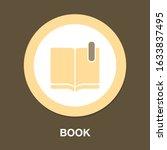 book icon  vector education...   Shutterstock .eps vector #1633837495