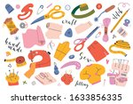 sewing collection. vector...   Shutterstock .eps vector #1633856335