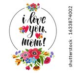 happy mothers day greeting card.... | Shutterstock . vector #1633874002