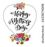 happy mothers day greeting card.... | Shutterstock . vector #1633874008