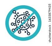 stop bacterial epidemy  ... | Shutterstock .eps vector #1633879435