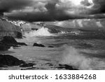 A Very Stormy Sea And Dark...