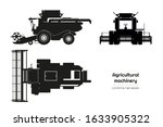 black silhouette of combine... | Shutterstock .eps vector #1633905322