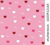 heart background for paper... | Shutterstock . vector #1633912165