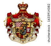 heraldic shield with a crown... | Shutterstock .eps vector #1633914382