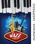 live music jazz night poster   Shutterstock .eps vector #1633954312