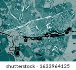 vector map of the city of brest ... | Shutterstock .eps vector #1633964125