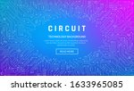 circuit board texture for... | Shutterstock .eps vector #1633965085