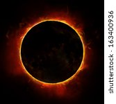 Sun Eclipse On The Black...